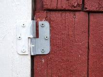 Bisagra de puerta Foto de archivo libre de regalías