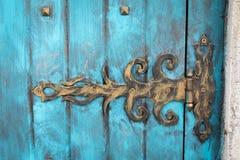 Bisagra de puerta del metal Foto de archivo libre de regalías