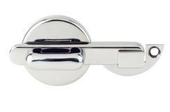 Bisagras de puerta de los accesorios aisladas en el fondo blanco Imagenes de archivo
