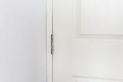 Bisagras de puerta inoxidables Imagen de archivo libre de regalías
