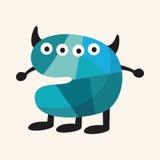 Bisarra beståndsdelar för monsterlägenhetsymbol, eps10 Arkivbild