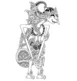 Bisawarna. A character of traditional puppet show, wayang kulit from java indonesia royalty free illustration