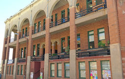 Bisbee,亚利桑那-铜女王图书馆 免版税图库摄影