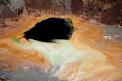 Bisbee, étang de mine de cuivre de l'Arizona Images libres de droits