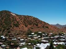 Bisbee Arizona - Bergbaustadt nahe der mexikanischen Grenze Schattenbild des kauernden Geschäftsmannes Stockfotos