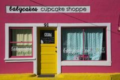 Bisbee, Arizona, de V.S., 6 April, 2015, roze cupcakeopslag, westelijke stad Stock Afbeelding