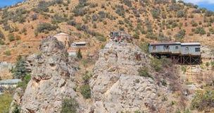 Bisbee Arizona - slotten vaggar monoliter arkivfoto
