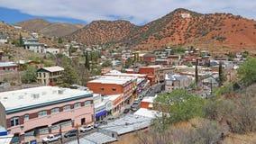 Bisbee, Panorama het Van de binnenstad van Arizona Stock Afbeeldingen