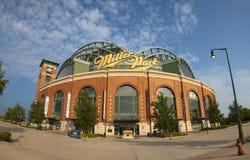Béisbol de los Milwaukee Brewers del parque de Miller MLB Imagen de archivo