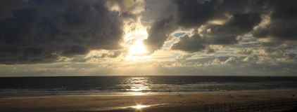 Biscarosse della spiaggia del sole Fotografia Stock