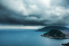 Biscay bay coast, Spain. Stock Photo