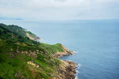 Biscay bay coast, Spain. Steep coast, Bay of Biscay, Spain Royalty Free Stock Photography