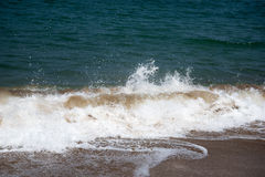 Biscay wave. Wave splashing at bay of Biscay coast Royalty Free Stock Images
