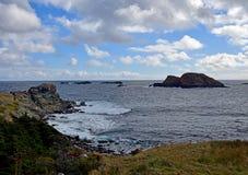 Biscayan Cove seascape, NL Canada. Landscape along the Killick Coast, Biscayan Cove seascape, Avalon Peninsula, NL Canada stock images