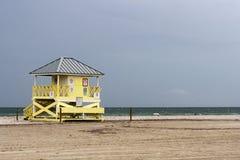biscayne佛罗里达关键lifequard mimai岗位 免版税库存图片