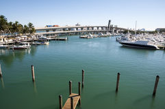 Biscayne bay marina in Miami Stock Image