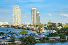 Biscayne Bay Traffic Royalty Free Stock Photography