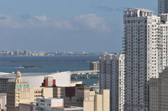 Biscayne Bay viewed from Miami downtown Stock Photography