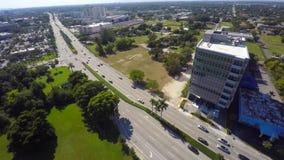 Biscayne Boulevard Aventura aerial video stock video