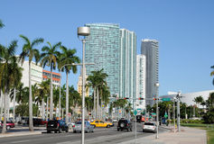 Biscayne Boulevard in Miami Stock Images