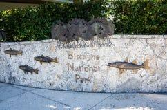 Biscayne parka narodowego znak - Floryda Obrazy Royalty Free