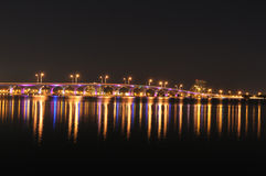 biscayne podpalany most Florida Miami Obrazy Royalty Free
