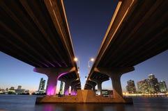 biscayne podpalany most Miami Zdjęcia Stock