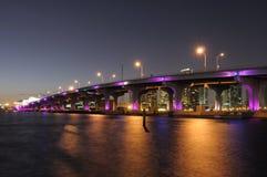 biscayne podpalany most Miami Obrazy Royalty Free