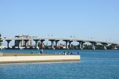 biscayne podpalany most Miami Zdjęcie Stock