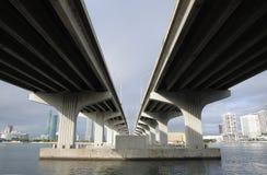 biscayne podpalany most Miami Zdjęcia Royalty Free
