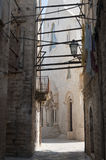 Bisceglie (Apulia) - Old street and cathedral Royalty Free Stock Photo
