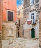 Bisceglie stary miasteczko w prowinci Barletta-Andria-Trani, Apulia, południowy Włochy obrazy stock