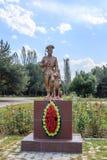 Bischkek, Kirgisistan - 25. August 2016: Monument zum Grenzguar Lizenzfreie Stockbilder