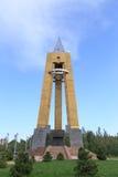 Bischkek, Kirgisistan - 25. August 2016: Monument zur Blockade Lizenzfreie Stockfotografie