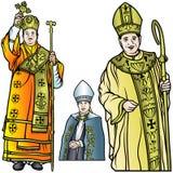 Bischof Set Stockfotos