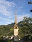 Bischofshofen, Pongau, Salzburger ziemia, Austria, typowy Austriacki dzwonkowy wierza obrazy royalty free