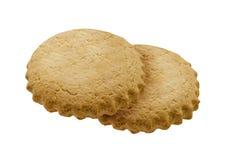 Biscoito amanteigado das cookies em um fundo isolado branco Foto de Stock Royalty Free