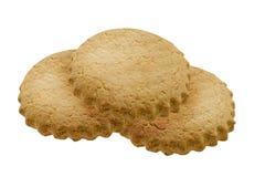 Biscoito amanteigado das cookies em um fundo isolado branco Imagens de Stock