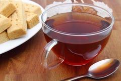 Biscoito amanteigado e chá Foto de Stock