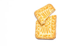 Biscoito com fundo branco isolado Fotos de Stock Royalty Free