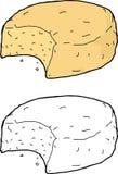 Biscoito comido ilustração royalty free