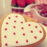 biscoito Coração-dado forma Fotografia de Stock Royalty Free