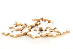 Biscoito dado forma estrela da canela Fotos de Stock
