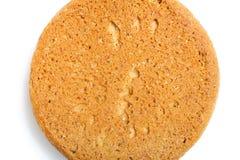 Biscoito de farinha de aveia doce redondo. Fundo e textura macro Fotos de Stock