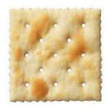 Biscoito de soda do Saltine isolado no branco Fotos de Stock Royalty Free