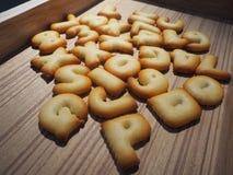 Biscoito do alfabeto Fotografia de Stock