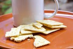 Biscoito e café Fotos de Stock Royalty Free
