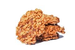 Biscoito friável doce tailandês do arroz Foto de Stock