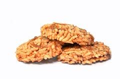 Biscoito friável doce tailandês do arroz Fotografia de Stock Royalty Free