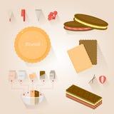 Biscoito infographic Imagem de Stock Royalty Free